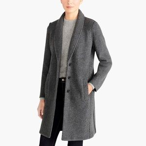 J Crew boiled wool topcoat. NWT  char gray size 6